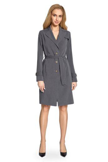Elegantní jarní kabátek Style S094 šedý