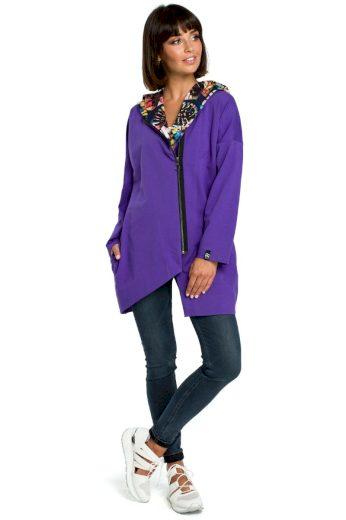 Pohodlný sportovní kabátek Be B091 fialový