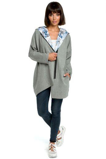 Pohodlný sportovní kabátek Be B091 šedý
