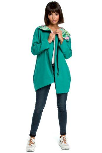 Pohodlný sportovní kabátek Be B091 zelený