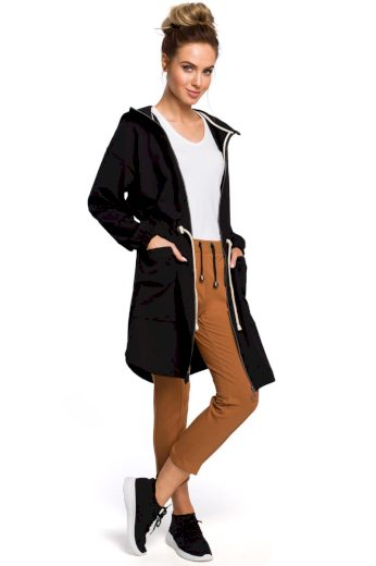 Sportovní bavlněný jarní kabátek MOE M416 černý