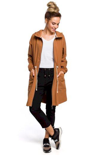 Sportovní bavlněný jarní kabátek MOE M416 hnědý