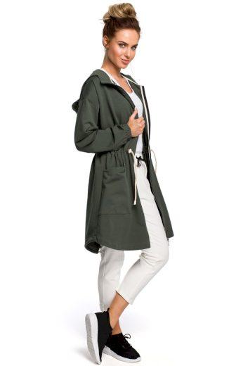 Sportovní bavlněný jarní kabátek MOE M416 zelený