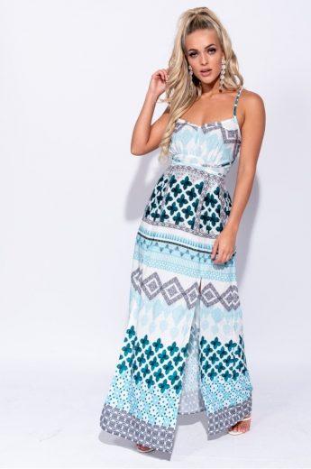 Dlouhé letní šaty se vzorem