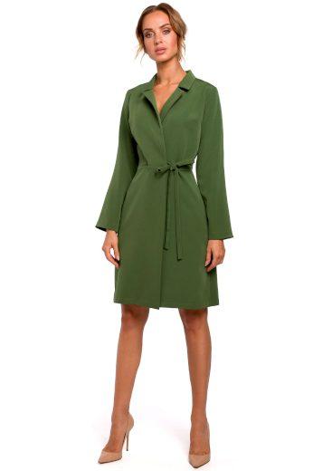 Zavinovací šaty MOE M462 zelené