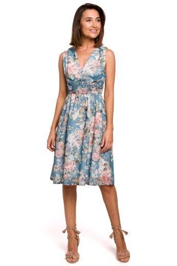 Lehounké letní šaty Style S225 modré
