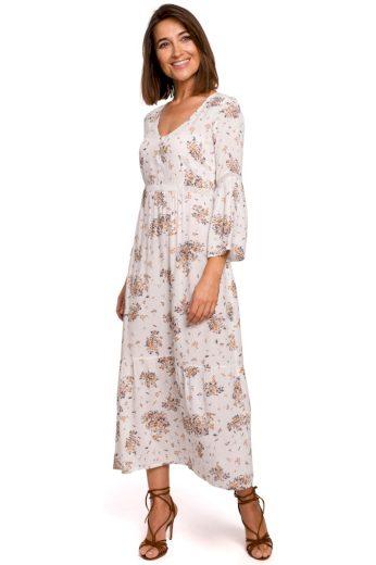 Romantické letní šaty Style S222 bílé