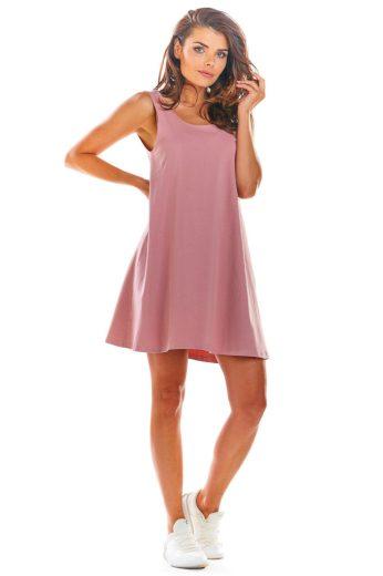 Letní bavlněné minišaty InfiniteYou M204 růžové