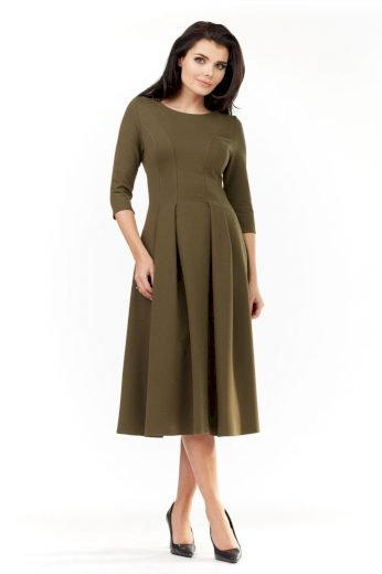 Elegantní šaty Infinite You M155 khaki