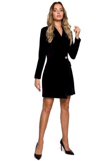 Společenské sametové šaty MOE M562 černé