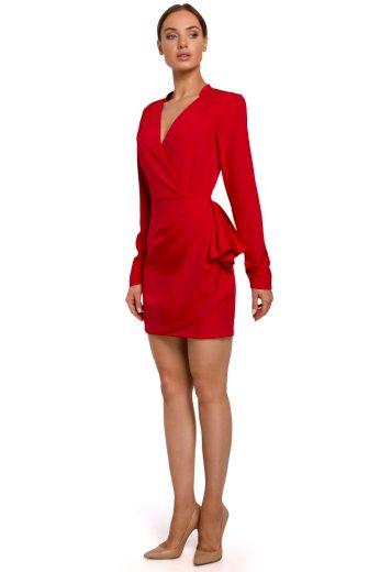 Elegantní zavinovací šaty MOE M531 červené