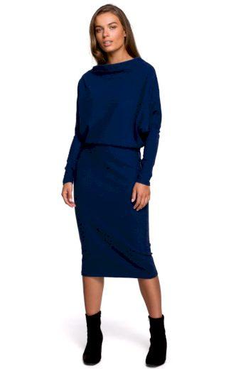 Elegantní šaty Style S251 modré