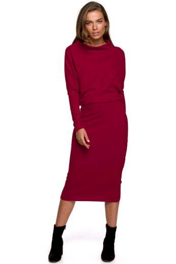 Elegantní šaty Style S251 bordó