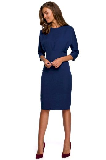 Elegantní šaty Style S242 modré