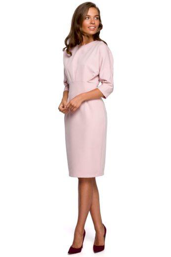 Elegantní šaty Style S242 pudrové