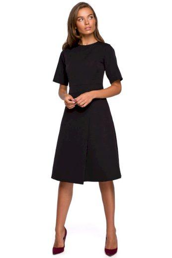 Klasické elegantní šaty Style S240 černé