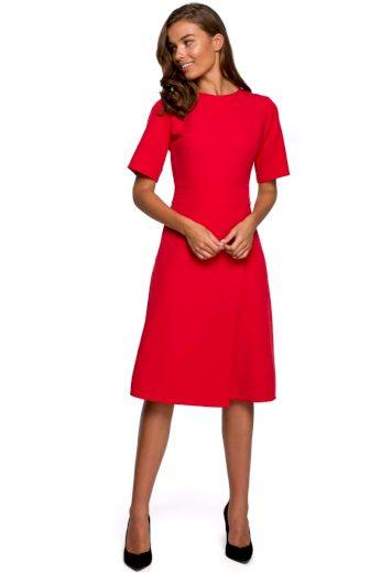 Klasické elegantní šaty Style S240 červené