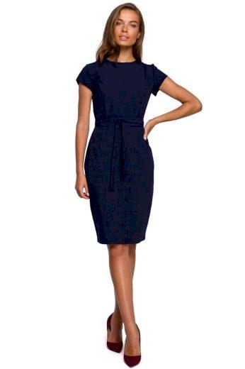 Pouzdrové elegantní šaty Style S239 modré
