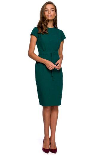 Pouzdrové elegantní šaty Style S239 zelené