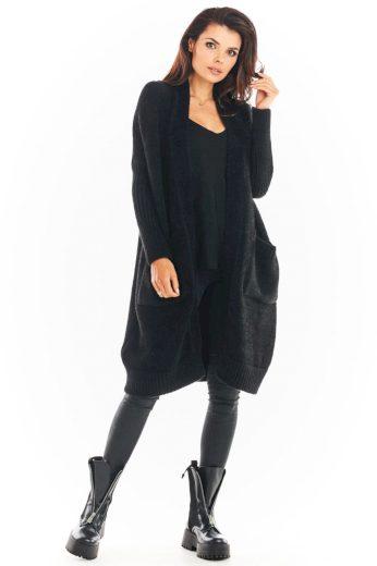 Pletený kabátek Awama A395 černý