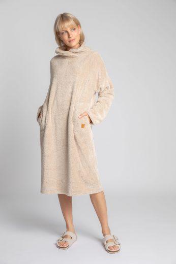 Měkounké domácí šaty LaLupa LA002 béžové