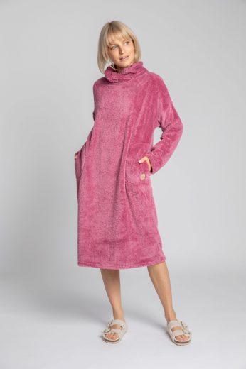 Měkounké domácí šaty LaLupa LA002 fialové