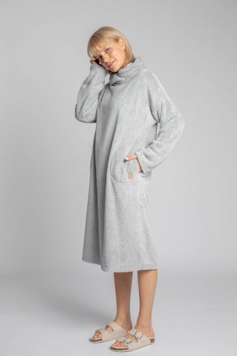 Měkounké domácí šaty LaLupa LA002 šedé