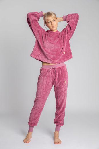 Měkounké domácí kalhoty LaLupa LA004 fialové