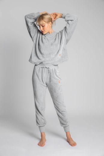Měkounké domácí kalhoty LaLupa LA004 šedé