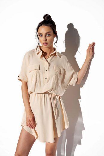 Lehounké košilové šaty Lemoniade L338 béžové