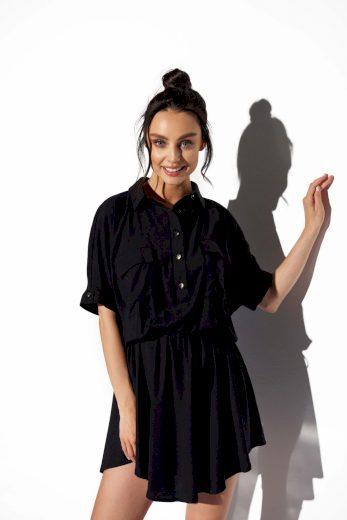 Lehounké košilové šaty Lemoniade L338 černé