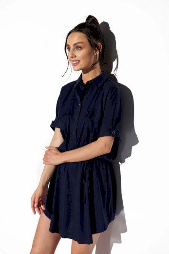 Lehounké košilové šaty Lemoniade L338 modré