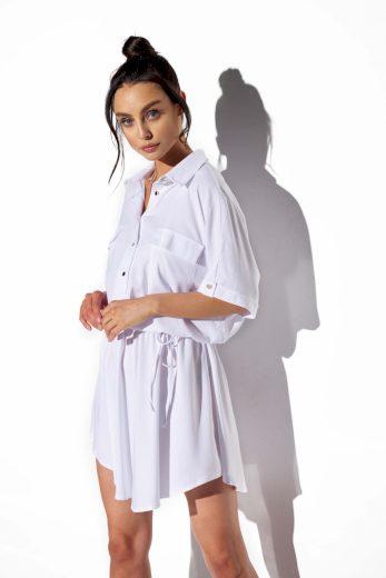 Lehounké košilové šaty Lemoniade L338 bílé