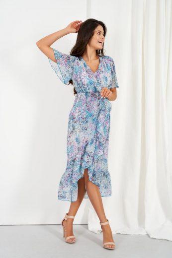 Šifonové delší šaty s hedvábím Lemoniade LG523 vzor14