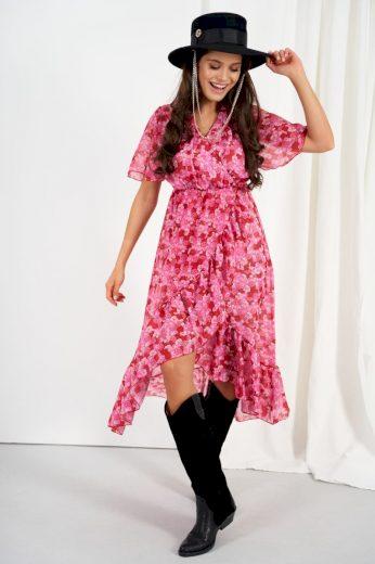Šifonové delší šaty s hedvábím Lemoniade LG523 vzor17