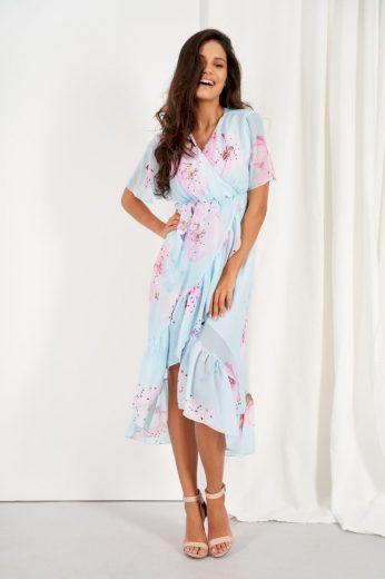 Šifonové delší šaty s hedvábím Lemoniade LG523 vzor18