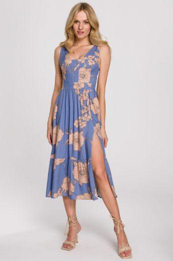 Květované letní šaty Makover K098 vzor 1