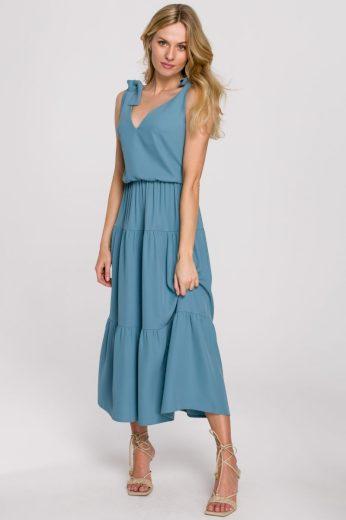 Letní šaty Makover K092 modré