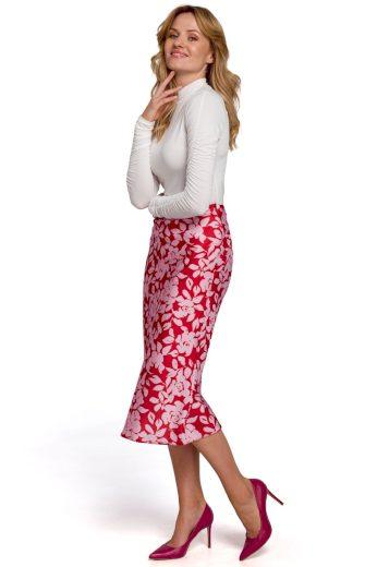 Elegantní květovaná sukně Makover K089 vzor 1