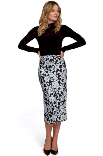 Elegantní květovaná sukně Makover K089 vzor 4