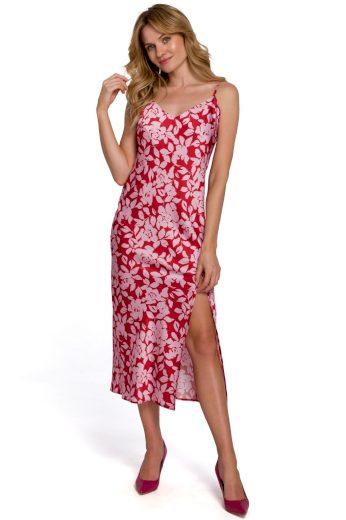 Květované šaty na ramínka Makover K085 vzor1