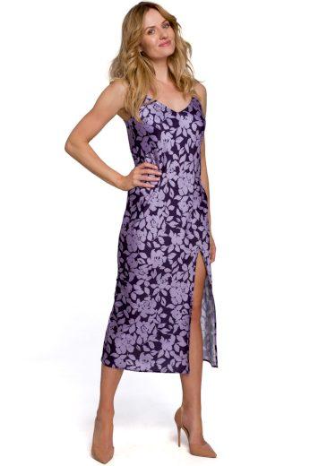 Květované šaty na ramínka Makover K085 vzor2