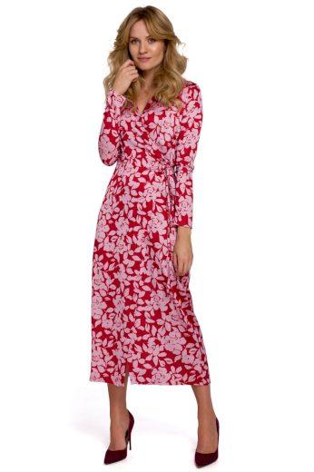 Zavinovací květované šaty Makover K083 vzor 1