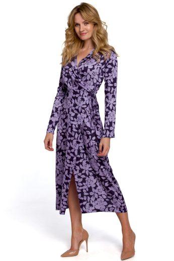 Zavinovací květované šaty Makover K083 vzor 2