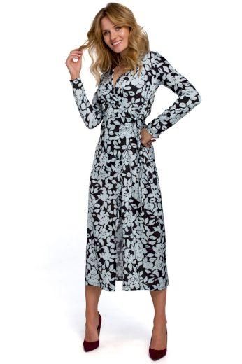 Zavinovací květované šaty Makover K083 vzor 4