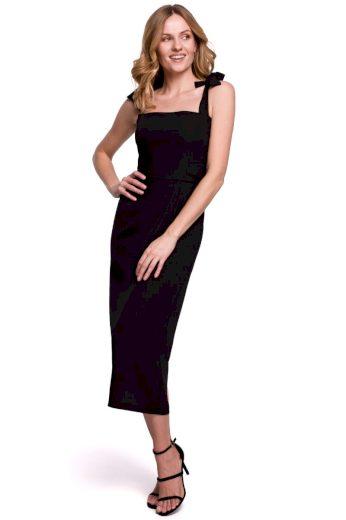 Pouzdrové šaty na ramínka Makover K046 černé