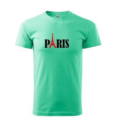 Paris nápis - Heavy new - triko pánské