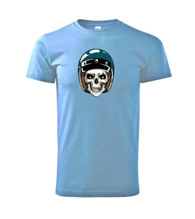 Moto helma modrá - Heavy new - triko pánské