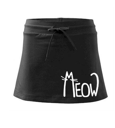 Meow - Mňau - Sportovní sukně - two in one