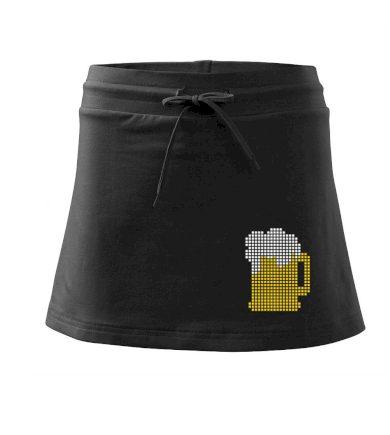 Pivo pixel - Sportovní sukně - two in one